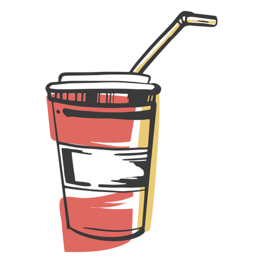 Drawn drink cup