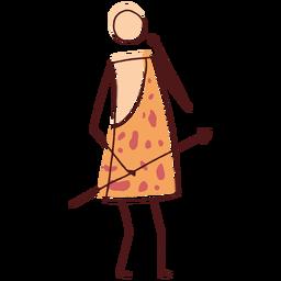 Dibujado palo cavernícola