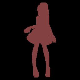 Vestido silueta bailarina flaca