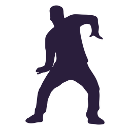 Dubstep dancestep silhouette