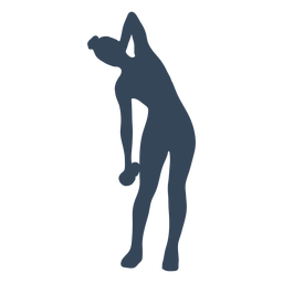 Dumbbell exercise silhouette