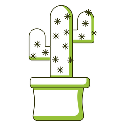 Duo tone cactus illustration