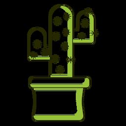Ilustración de cactus de tono dúo