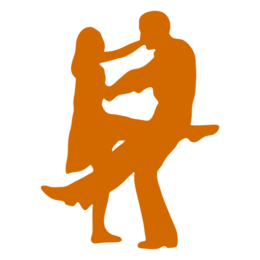 Duo dancing simple Transparent PNG