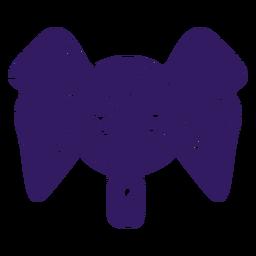 Silhueta mexicana de elefante