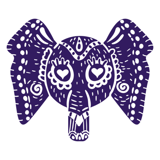 Elephant mexican silhouette Transparent PNG