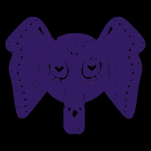 Silueta de elefante mexicano Transparent PNG