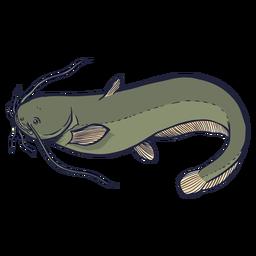 Curso de peixe-gato europeu