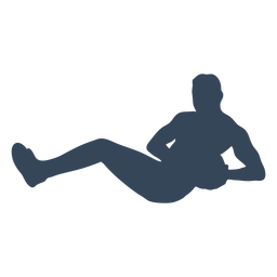 Exercise person with ball silhouette
