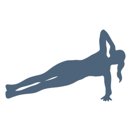 Exercise pose silhouette