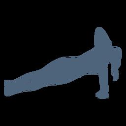 Silueta de pose de ejercicio