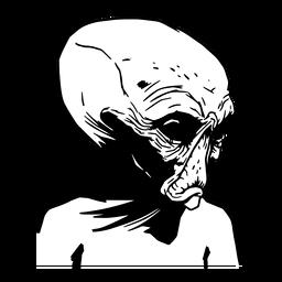 Außerirdische Kreatur gezeichnet