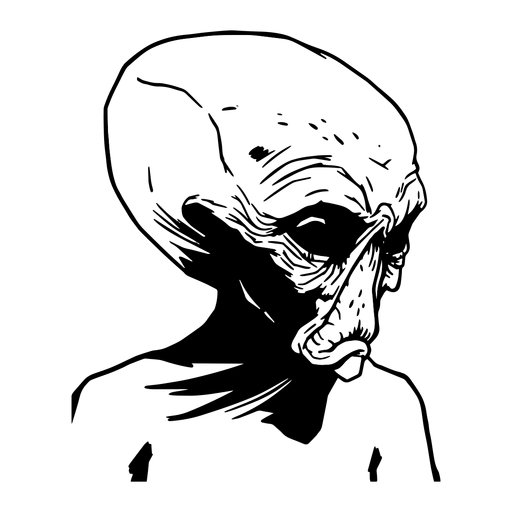 Criatura extraterrestre desenhada