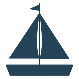 Flag sailboat vector