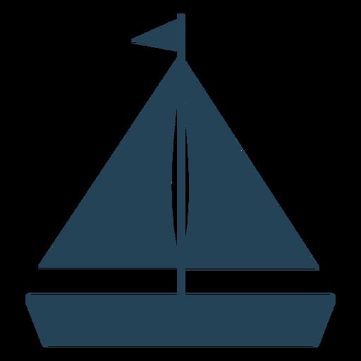Flag sailboat vector