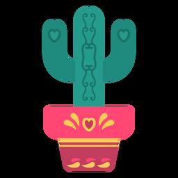 Flat cute cactus