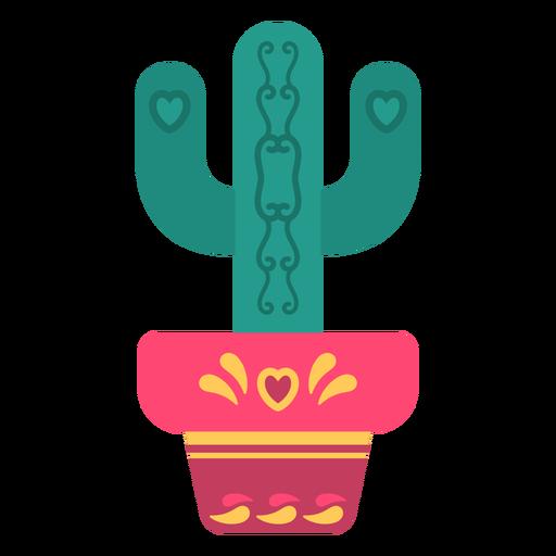 Flat cute cactus Transparent PNG
