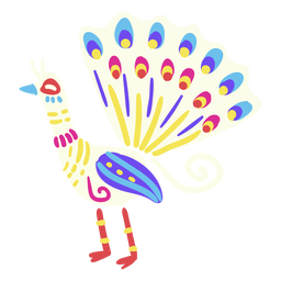 Piso pavo real mexicano