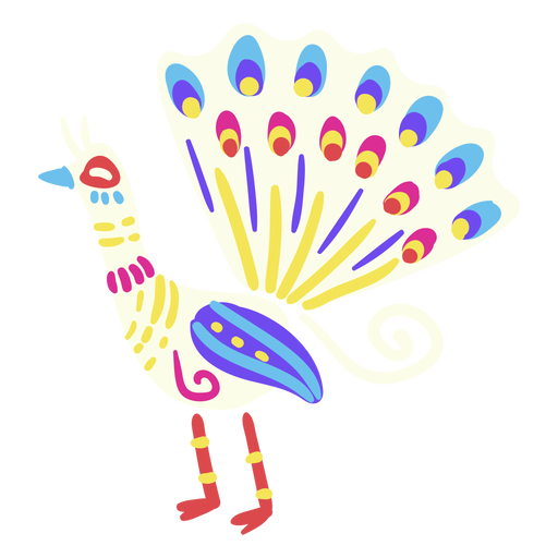 Flat peacock mexican Transparent PNG