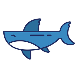 Flat whale colored