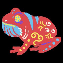 Escultura plana mexicana rana