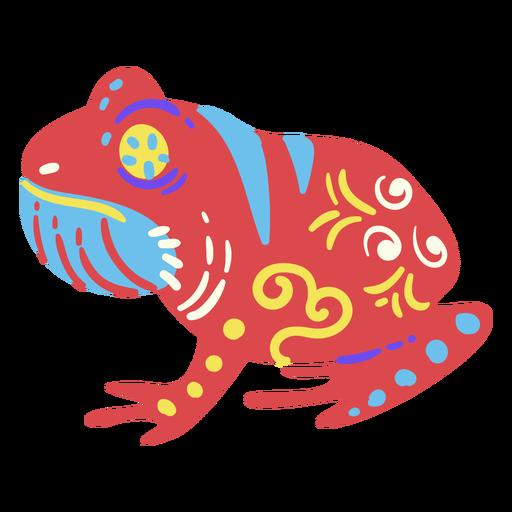 Frog mexican flat sculpture