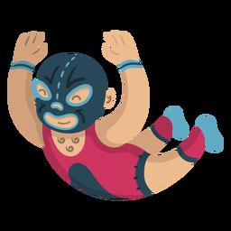 Bajando luchador mexicano