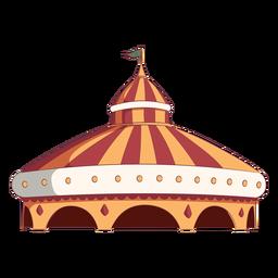 Grande tenda de circo colorida