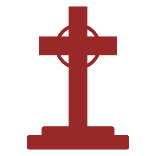 Gravestone with cross silhouette Transparent PNG