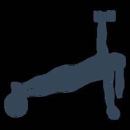 Gran silueta de rutina de ejercicios