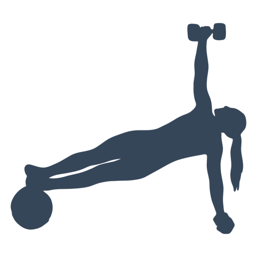 Great exercise routine silhouette Transparent PNG