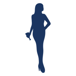 Hand on hip cocktail girl silhouette