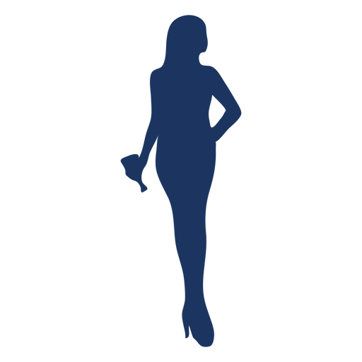Hand on hip cocktail girl silhouette Transparent PNG
