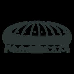 Zirkus mit hohem Dachzelt