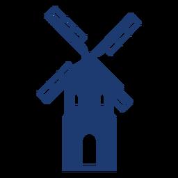 Vector de molino de viento alto