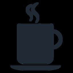 Silhueta de xícara quente