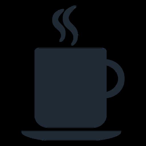 Silueta de taza caliente