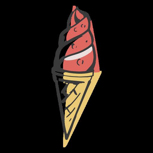 Ice cream drawn colored