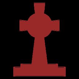 Large cross gravestone silhouette