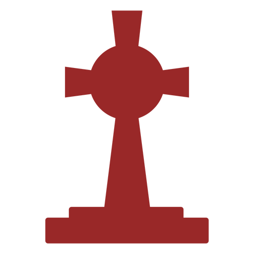 Large cross gravestone silhouette Transparent PNG