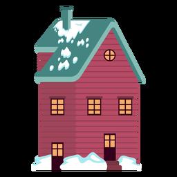 Large house snowed