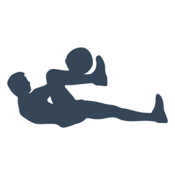 Laying down person silhouette