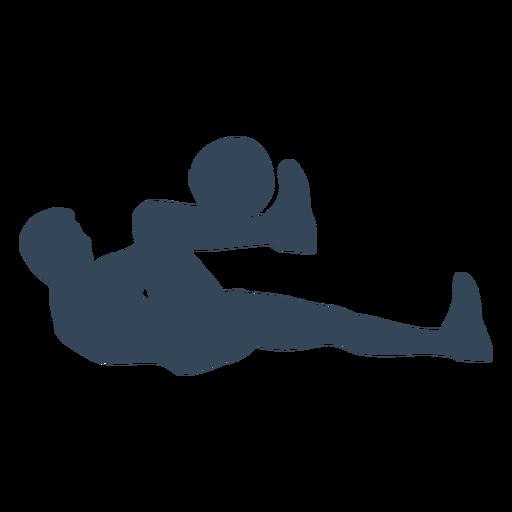 Acostado silueta de persona Transparent PNG
