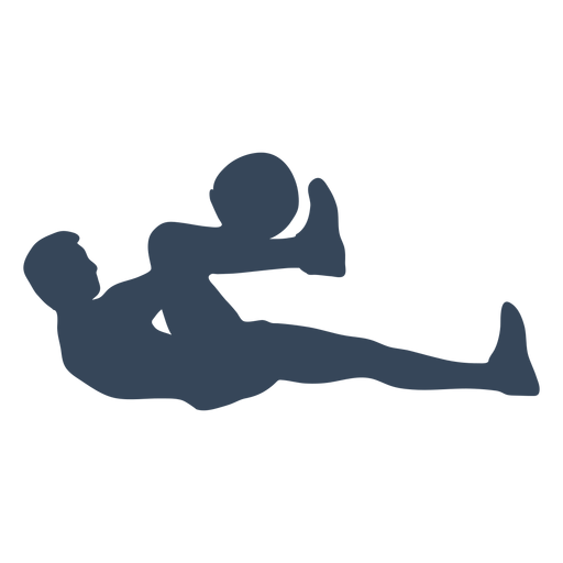 Laying down person silhouette Transparent PNG