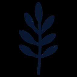 Elemento de hojas simple