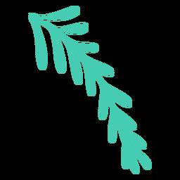 Folhas de natal simples