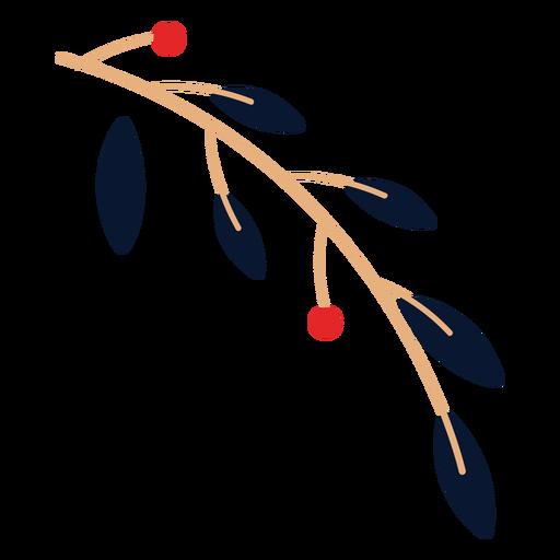Hojas con elemento de frutas Transparent PNG
