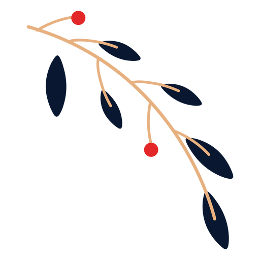 Leaves with fruits element Transparent PNG