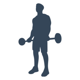 Lifting barbell silhouette