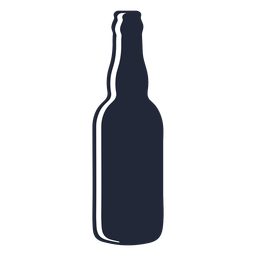 Long neck beer bottle silhouette